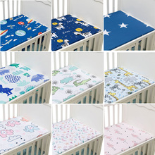 Mattress-Cover Crib Fitted-Sheet Newborn Bedding Baby Bed Cartoon-Print Soft for Cot-Size