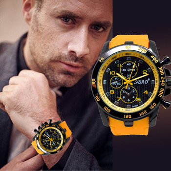 2020 Men's Quartz Watch Fashion Wristwatches Stainless Steel Yellow Clock Luxury Sport Analog Modern Men Wrist Watches 1
