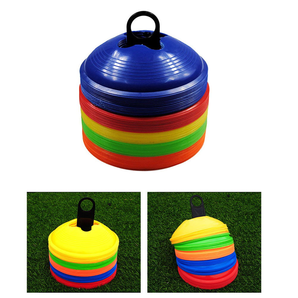 20 Pcs High Soccer Disc Cones For Agility Training Soccer Football Field Marker M88