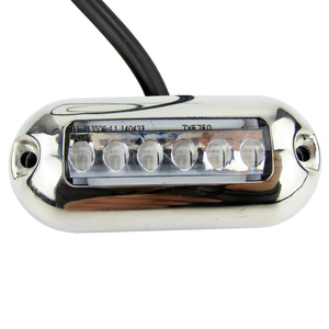 Image 3 - 12V Mềm Hình Bầu Dục LED Dưới Nước Xanh Nhạt Điểm Nhấn Nhẹ Bề Mặt Gắn 6 LED IP68