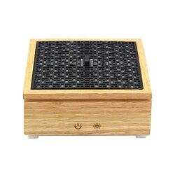 Ultradźwiękowy dyfuzor zapachowy nawilżacz powietrza drewniane pudełko dyfuzor olejków eterycznych Mist Maker nawilżacz z funkcją aromaterapii dla domu 120Ml ue w Nawilżacze powietrza od AGD na