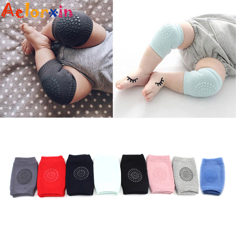 1 Pair Baby Knee Pads Kids Safety Crawling Socks Cushion Protect Baby Knee Warmers Socks For Kids 1-3 Years Old Toddler Socks