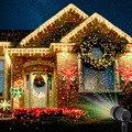 Рождественский умный лазер проектор звезды красный зеленый синий лампы-ливень Открытый водонепроницаемый сад украшение статический мерца...