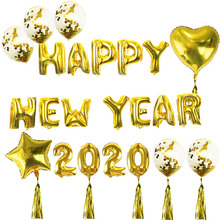 Happy New Year 2020 Gold Sliver Foil Balloons Merry Christmas Eve Party Decor Navidad 2019 Balloon Kerst
