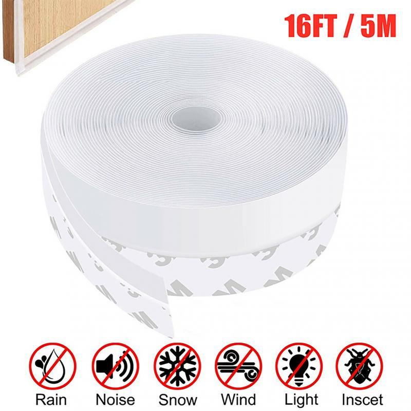 Самоклеящаяся уплотнительная лента, силиконовая резиновая лента для зачистки ДНА двери и окон, длина 5 м, ширина 25/35 мм