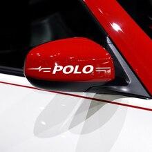 Autocollant réfléchissant pour rétroviseur pour Volkswagen VW POLO 2010 2020, 2 pièces, accessoire