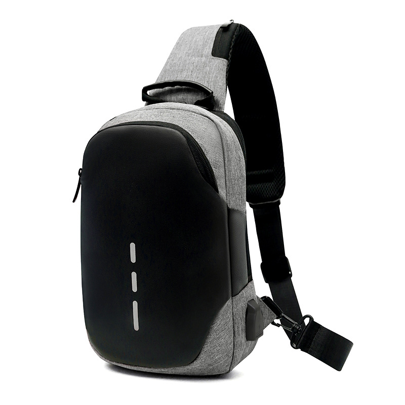 Anti-Theft USB Rechargeable Men Chest Pack Outdoor Casual Multi-functional Shoulder Bag Single Room Small Shoulder Bag