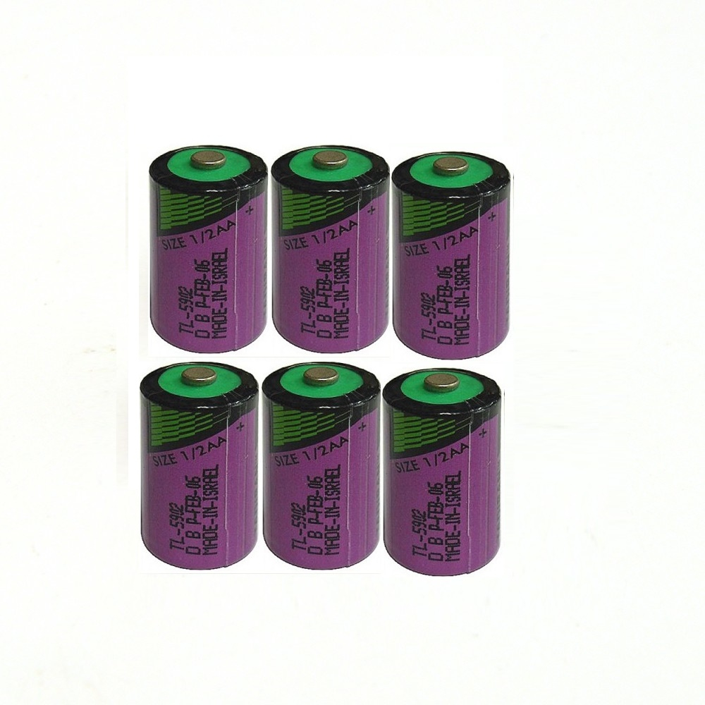 6pcs/lot Hot new high quality TL-5902 <font><b>1</b></font> / 2AA ER14250 SL350 <font><b>3.6V</b></font> <font><b>1</b></font>/<font><b>2</b></font> <font><b>AA</b></font> PLC <font><b>lithium</b></font> <font><b>battery</b></font> image