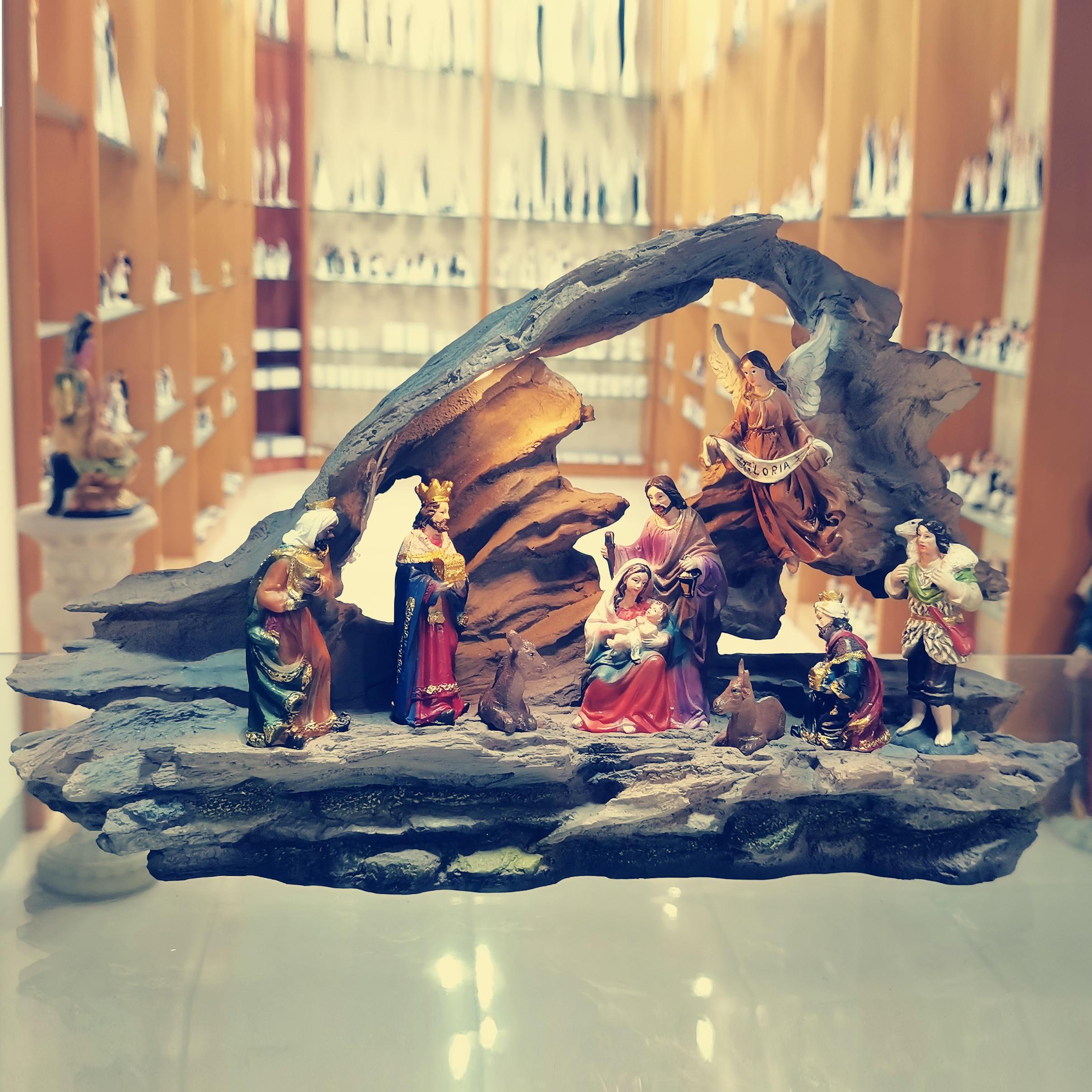 Zayton Home Decoration Nativity Scene SET Holy Family Statue Christ Jesus Mary Joseph Figure Catholic Figurine