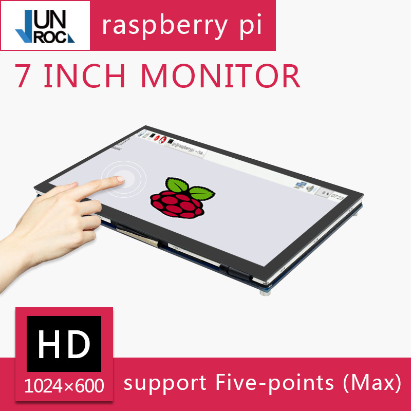 7'' Raspberry Pi Display 7 Inch Capacitive Touch Screen LCD 1024×600 IPS Supports Raspberry Pi 4B/3B+/3B/Zero