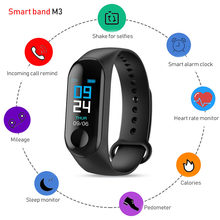 M3 Fitness Armband PK M4 Mannen Hartslagmeter Band Bloeddruk Bluetooth Sport Smart Armband Voor Xiao Mi Android IOS(China)