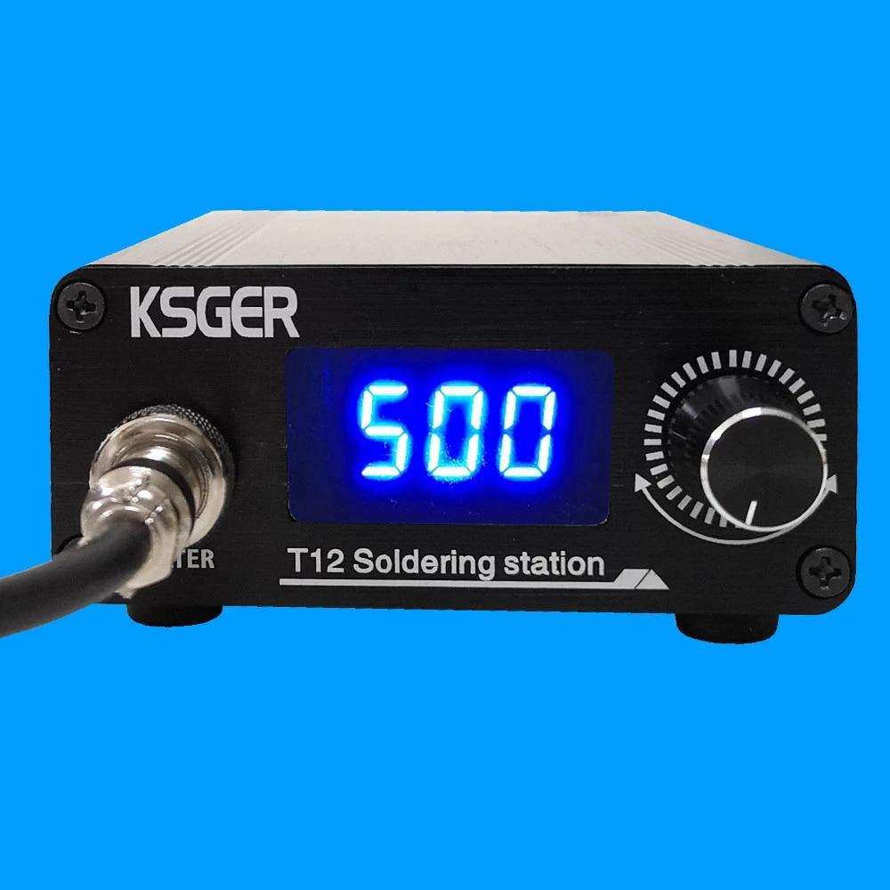 KSGER T12 Soldering Station STM32 Digital Controller Aluminum Alloy Case 907