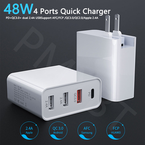 Image 2 - 48W Multi USB PD Charger For Samsung iPhone 11 Huawei laptop QC 3.0 Fast Wall USB Power Charger US EU UK Plug Type C USB Adapter