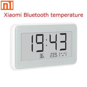 Image 1 - شاومي Mijia BT4.0 اللاسلكية الذكية الكهربائية ساعة رقمية داخلي وخارجي الرطوبة ميزان الحرارة LCD قياس درجة الحرارة