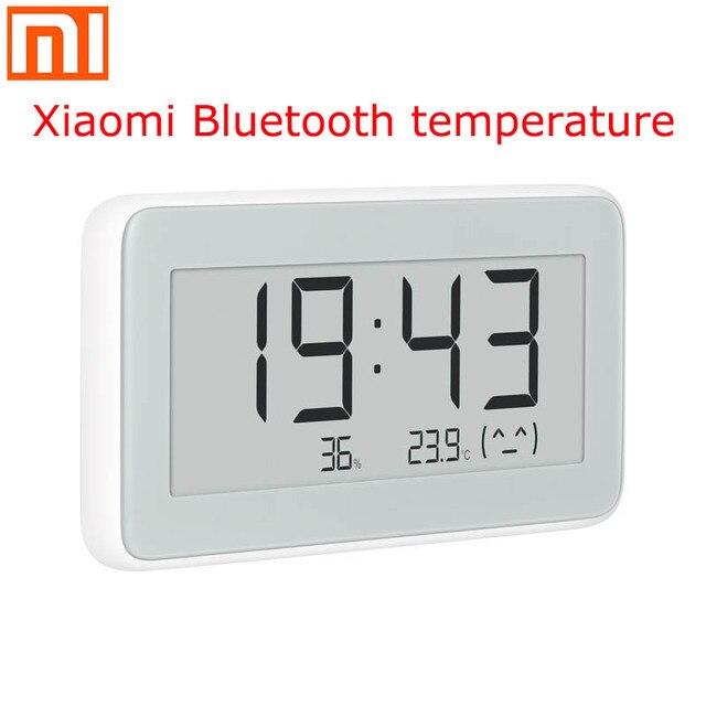 Xiaomi Mijia BT4.0 אלחוטי חכם חשמלי דיגיטלי שעון מקורה וחיצוני מדדי לחות מדחום LCD טמפרטורת מדידה