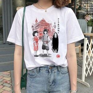 Women's T-shirt Kawaii T-shirt Totoro Harajuku T-shirt Women Studio Ghibli Miyazaki Hayao Fashion Cartoon T-shirt Cute Top Tees