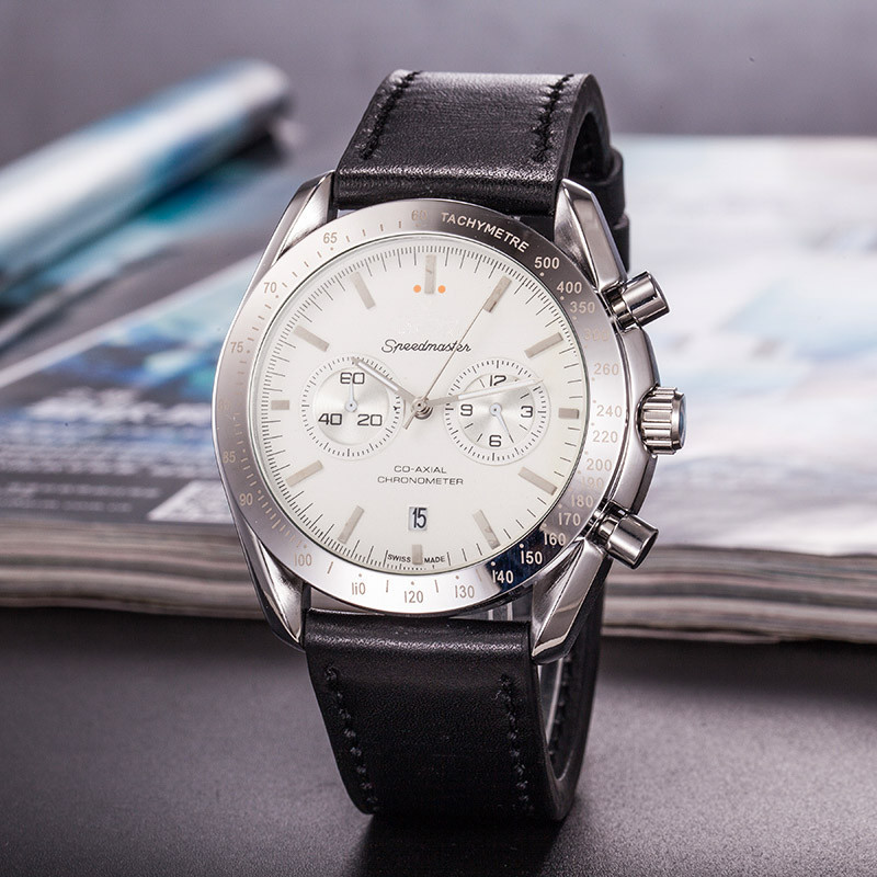 Top Brand Business Quartz Watches Men Aaa Wristwatch With Leather Strap Relogio Masculino