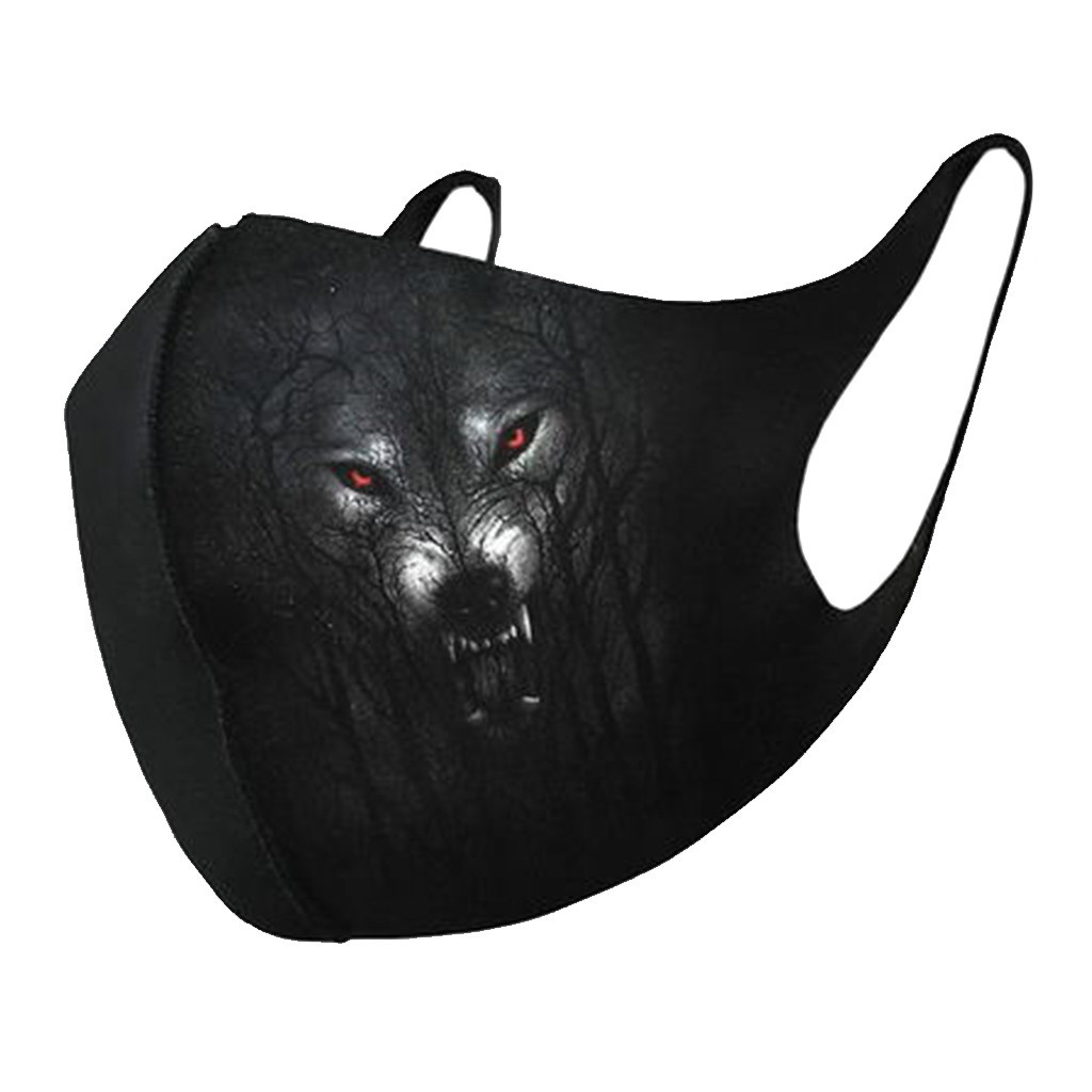 Unisex Windproof Universal Mouth Masks Breathable Animal Print Face Masks Windproof Dustproof Mouth-muffle Gezichtsmasker d35 1