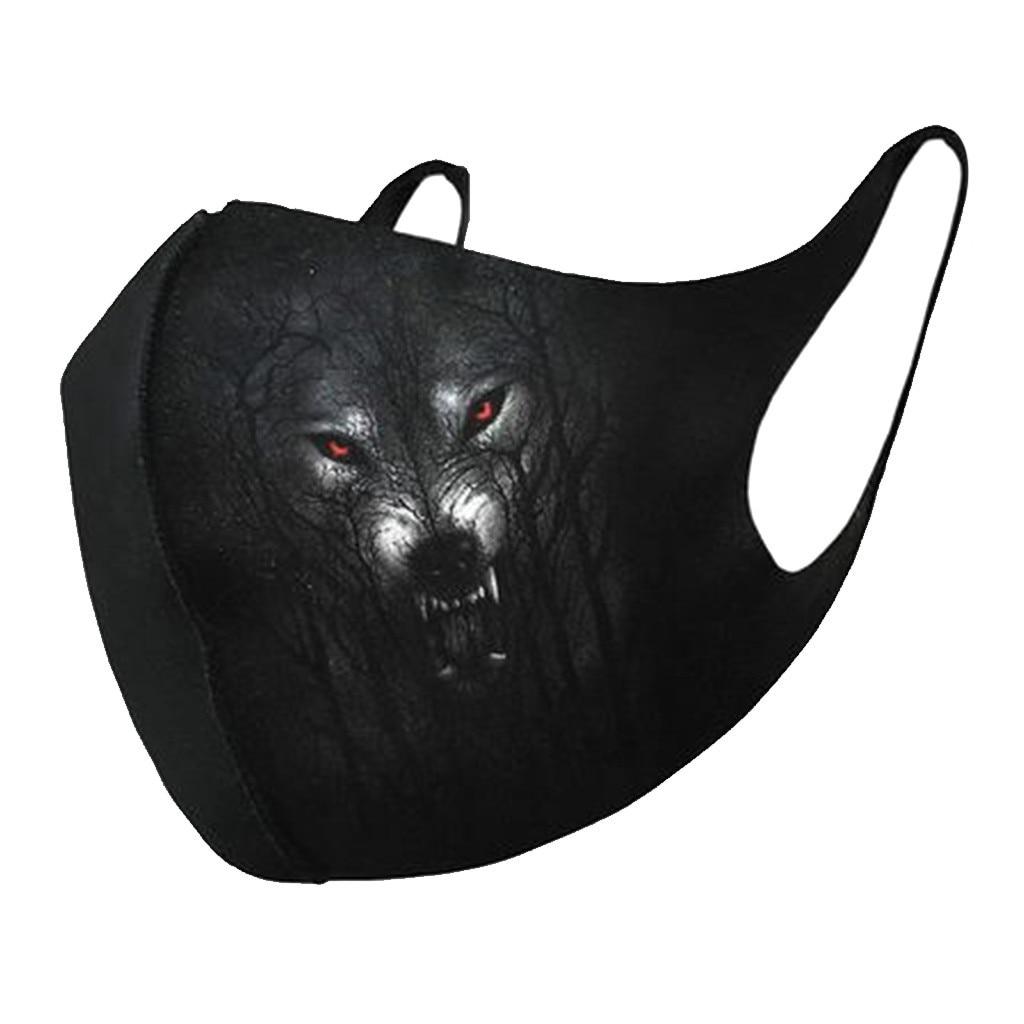 Унисекс ветрозащитные универсальные маски для рта дышащие маски для лица с принтом животных ветрозащитные пылезащитные маски для рта ...