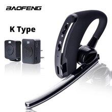 Baofeng Walkie Talkie Headset PTT Draadloze Bluetooth Oortelefoon voor Twee manier Radio K Poort Draadloze hoofdtelefoon voor UV 5R 82 8 W 888 s