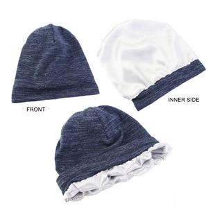 Image 4 - חדש כותנה למתוח מוסלמי טורבן כפת מצנפת הודו כובע סאטן משי מרופד שינה כובע סרטן כימותרפיה כובע שיער אבזרים