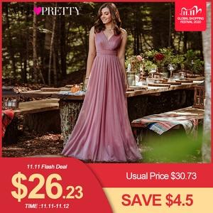 Image 1 - Ever Pretty vestidos de noite decote em V,, a linha, sem mangas, comprido até o chão, EZ07764NB, vestido de festa robe