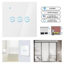 цена на Smart Home WiFi Electrical touch Blinds curtain switch Ewelink APP Voice Control by Alexa Echo for Mechanical Limit Blinds Motor