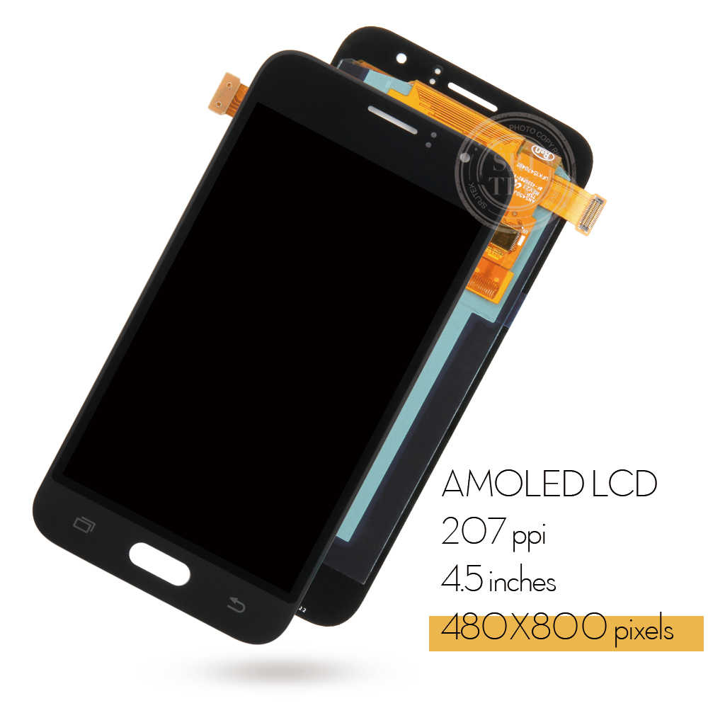AMOLED/TFT لسامسونج غالاكسي J1 2016 عرض J120 LCD تعمل باللمس محول الأرقام الاستشعار الزجاج J120F شاشة الكريستال السائل J120H J120 شاشة J120M
