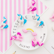 3pcs/set Cute Rainbow Eraser Set Type Creativity School Supplies Painting Office Erasers For Gifts