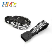 Para mini countryman f60 clubman f54 f55 f56 f57 caso chave do carro capa titular para mini cooper acessórios estilo do carro corda chave corrente