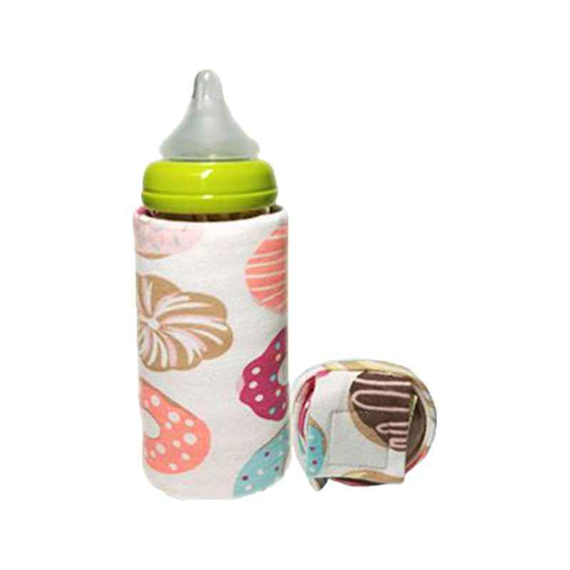 Cartoon Printing Baby Bottle Insulation Cover Constant Temperature Heating USB Portable Bag Thick Warm Universal Bottom Wrapped