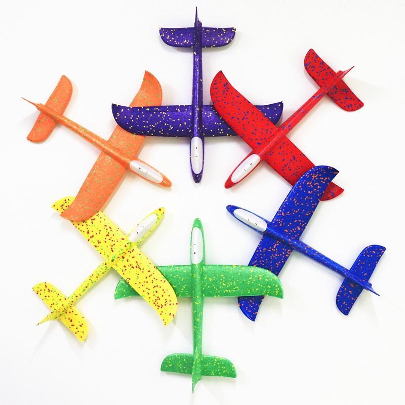 48 см DIY большой EPP пенопластовый ручной самолет с красочным мигающим светильник, обучающая игрушка для детей, пенопластовые модели самолето...