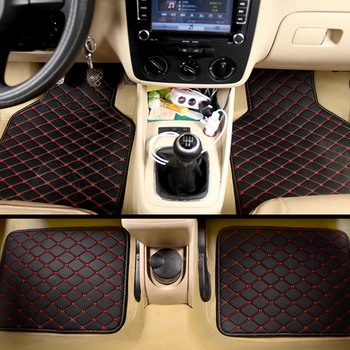 Universal Car Floor Mats PVC Leather Mats For Cars Anti dirty Waterproof Car Carpet Car Accessories Styling image
