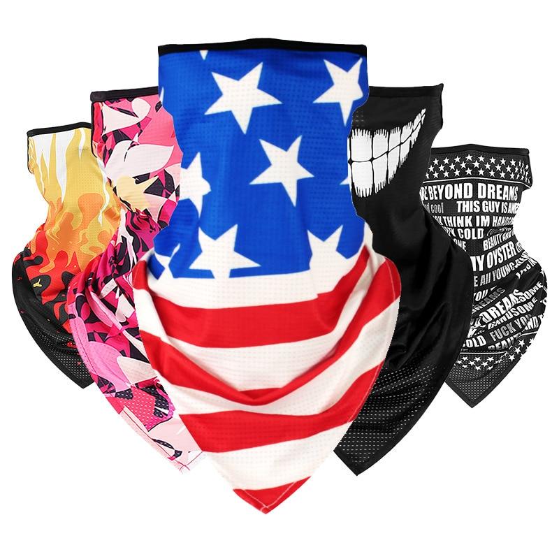 2021アメージングマジックスカーフ屋外乗馬釣りスカーフ吊り耳通気性速乾性の三角スカーフ夏のファッション
