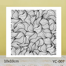 ZhuoAng Twisted Lines Background Clear Stamps For DIY Scrapbooking/Card Making/Album Decorative Silicon Stamp Crafts zhuoang dense leaves background clear stamps for diy scrapbooking card making album decorative silicon stamp crafts