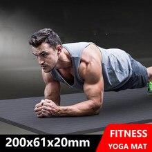 Top 20MM Thicken/Lengthen Non-Slip Durable Fitness Pilates Acupressure Sport Mat High Density Tasteless Pad For Gym Home Unisex