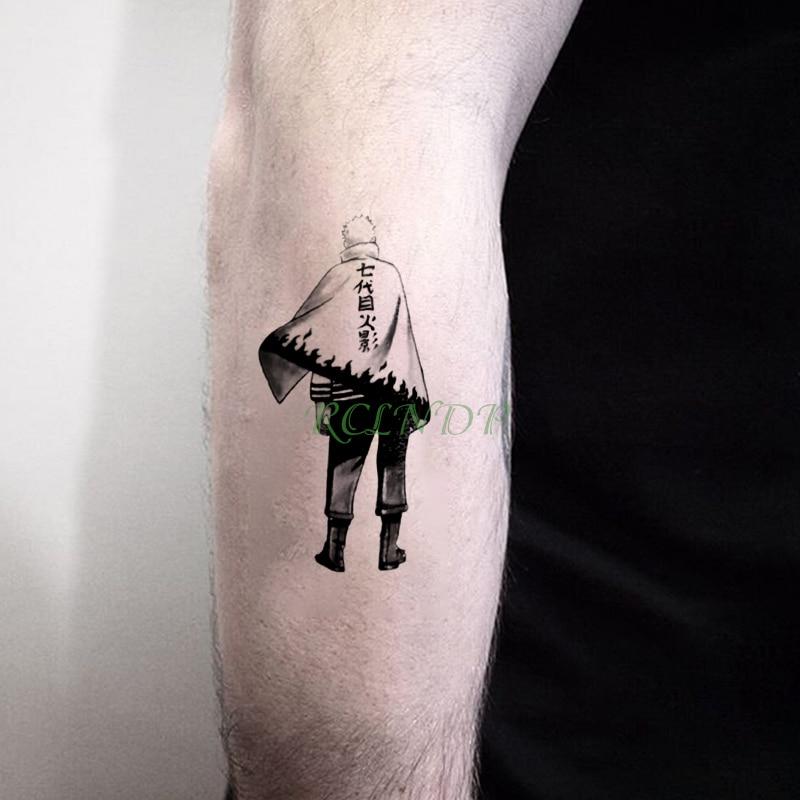 Waterproof Temporary Tattoo Sticker Naruto The Seven Generation Of Shadows Fake Tatto Stickers Flash Tatoo For Men Women Kids