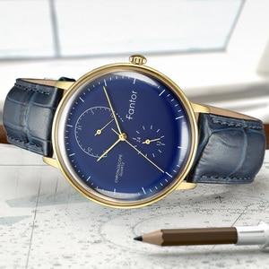 Image 5 - Men Watch Fantor Luxury Casual Leather 2019 Chronograph Quartz Waterproof Mens Wristwatch Top Brand Man Clock Watches for Men