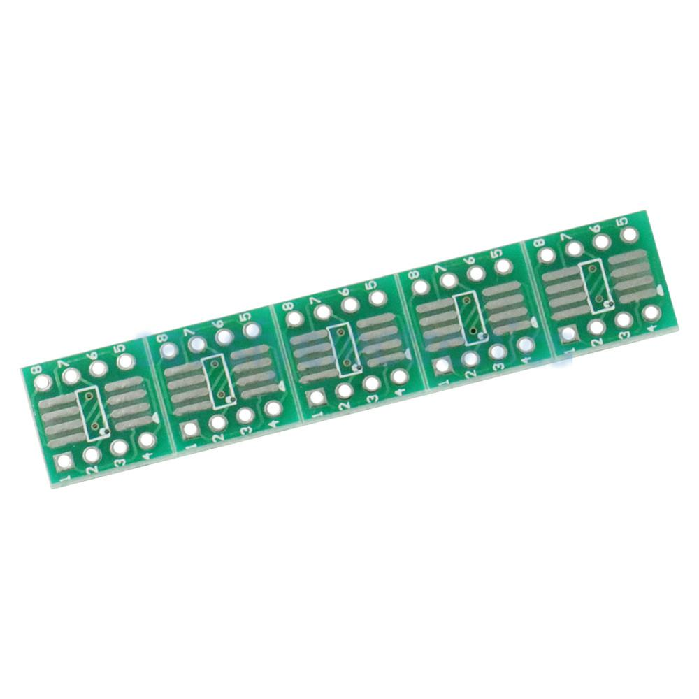 10PCS SOP8 SO8 SOIC8 SMD To DIP8 Adapter PCB Board Converter Double Sides 0.65mm/1.27mm NEW