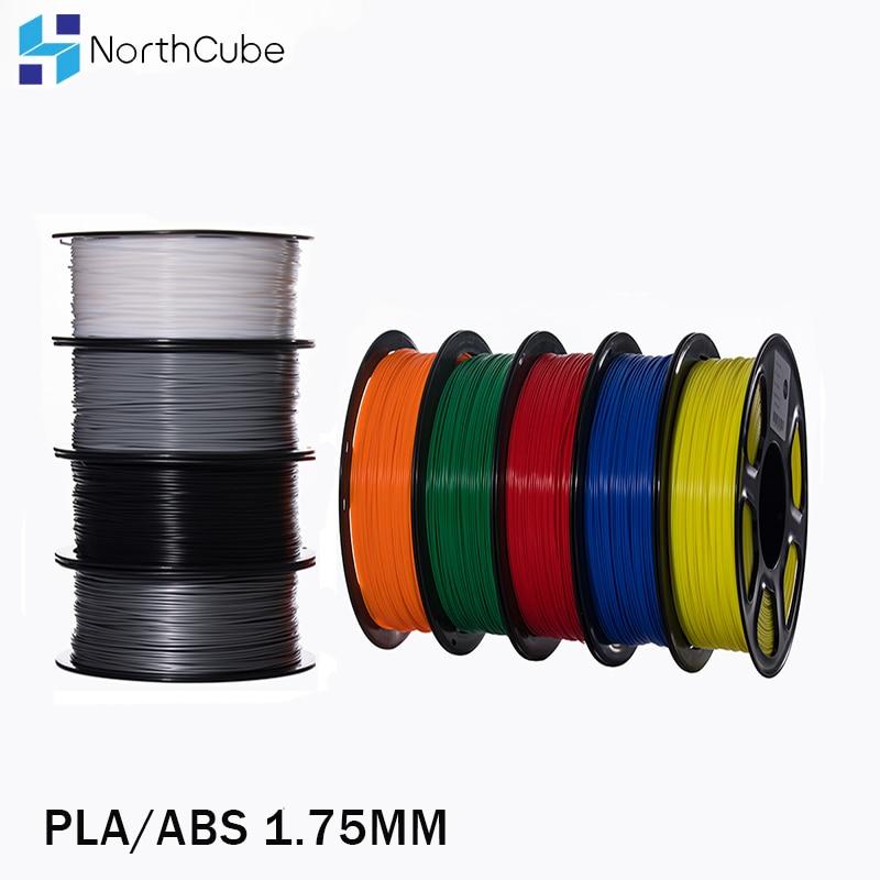 PLA/ABS/PETG 필라멘트 1.75mm 1 KG 3D 프린터 abs 필라멘트 343 m 2.2 LBS 3D 프린터 및 3d 펜용 3D 플라스틱 소재