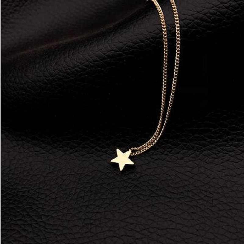 Małe serce Choker naszyjnik dla kobiet złoty i srebrny łańcuszek mały miłość naszyjnik wisiorek na szyję czeski naszyjnik Choker biżuteria