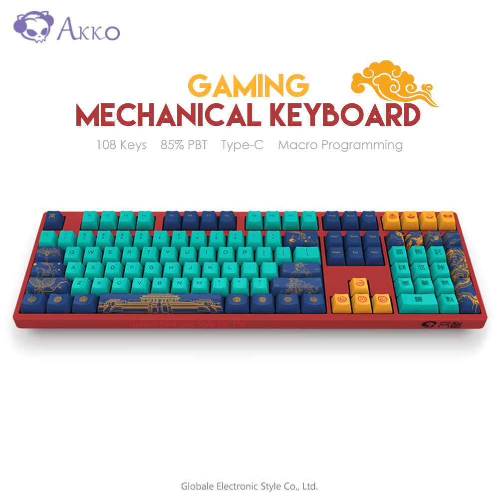 Original Akko 3108 V2 Beijing Mechanical Gaming Keyboard 108 Key 85% PBT Keycap Type-C USB Wired Gamer NKRO