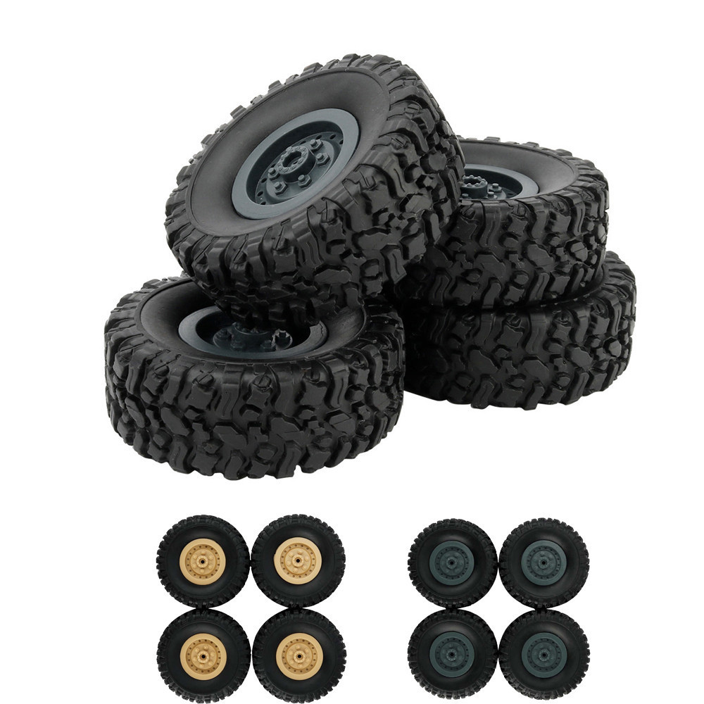 4pcs/Set RC Car Tires For 1/16 Wpl B14 C24 <font><b>Fy001</b></font> Military Truck Accessories Track Wheels Spare Parts image