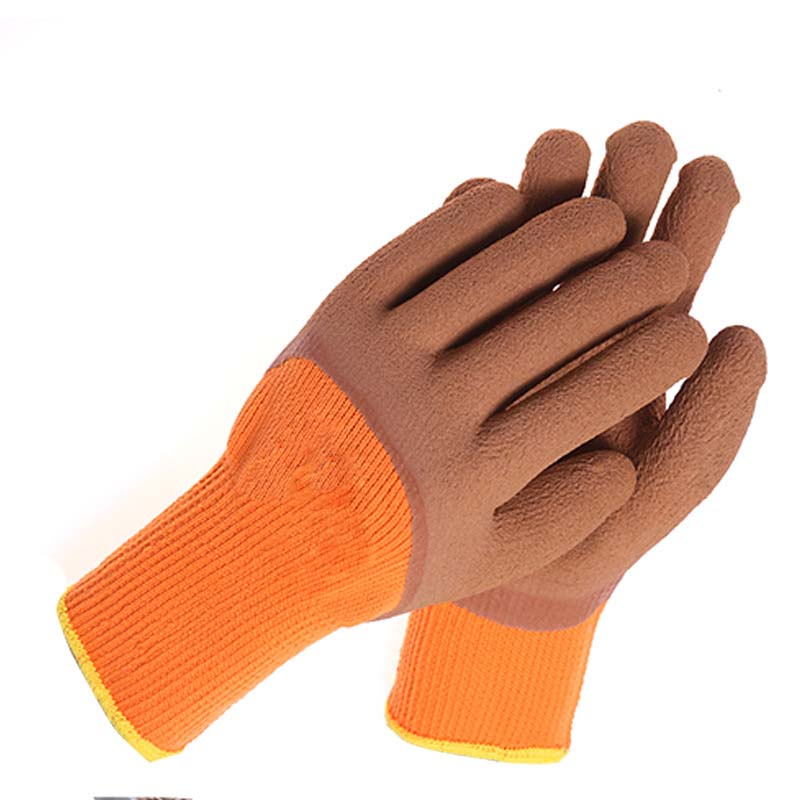 Thicken Beef Tendon Latex Gloves Industrial Waterproof Gloves Wear Rubber Gloves
