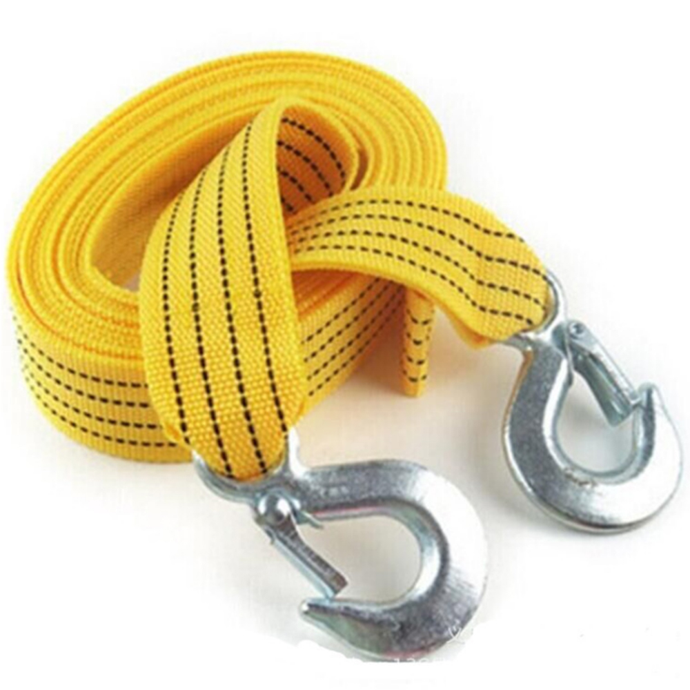 3M Heavy Duty 3 Ton Car Tow Cable Towing Pull Rope Strap Hooks  Car Emergency Self-driving Tools