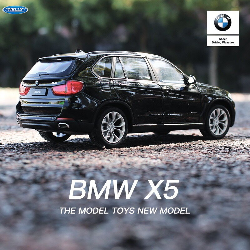 Welly 1:24 BMW X5  Car Alloy Car Model Simulation Car Decoration Collection Gift Toy Die Casting Model Boy Toy