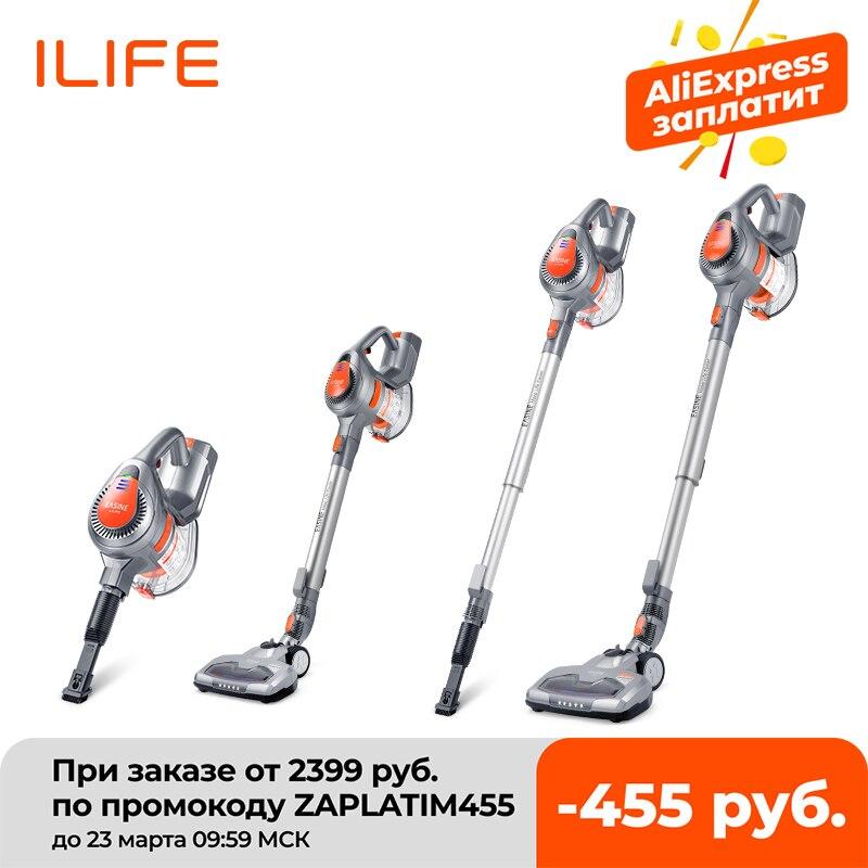 ILIFE aspiradora de mano H55, aspirador de palo inalámbrico, potente succión, 10.500 Pa, 35 minutos de tiempo de trabajo|Aspiradoras| - AliExpress