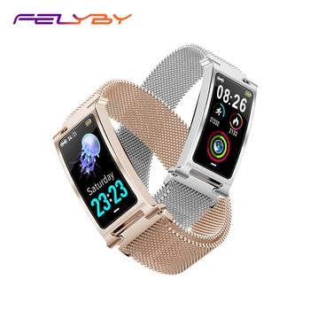 FELYBY F8 New Fashion Smart Bracelet IP68 Waterproof Bluetooth 5.0 Heart Rate Monitor Sports Step Smart Watch