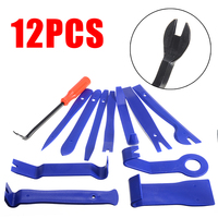 12 pçs guarnição ferramenta de remoção do carro kits guarnição cunha conjunto plástico montagem alavanca liberação ferramenta levantamento cunha reparação ferramentas|Conjuntos ferramenta manual| |  -
