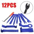 12Pcs Trim Tool di Rimozione Car Kit di Rimozione Trim Wedge Set Supporto di Plastica Leva di Rilascio Strumento di Leva di Sollevamento Cuneo di Riparazione strumenti
